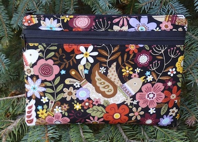 Morning Glory Clutch, Wristlet or shoulder bag