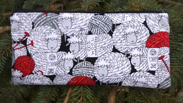 Deep Sleek Zippered Pouch for Knitting Needles up to 8 inches