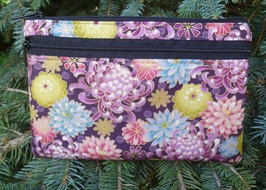 Wisteria clutch, smart phone wallet, purse organizer, mini shoulder bag