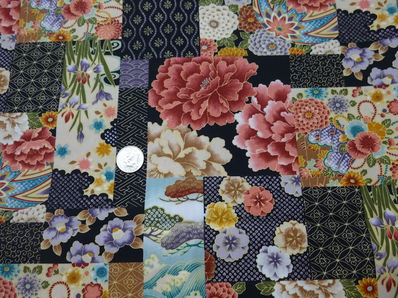 Japanese peonies soft sided bags for mahjong racks and tiles