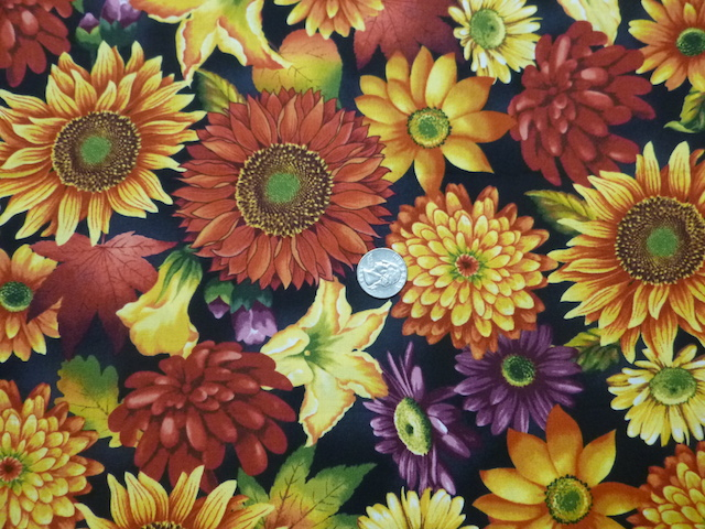 fall flowers and colors fabric for custom soft sided mahjong tote and bag for tiles