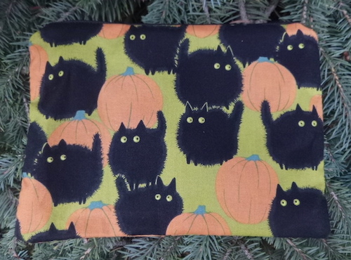big black cat Belinda's Big Kitty zippered accessory bag makeup bag