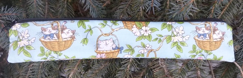 cats in baskets low profile pouch for eco friendly reusable straws