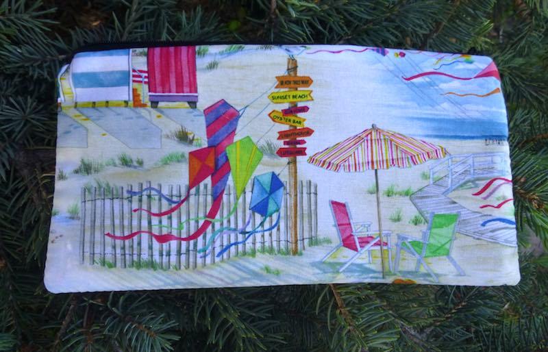 beach kites deep pencil case