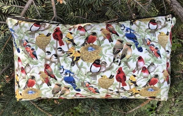 Wild birds flat bottom bag for mahjong tiles