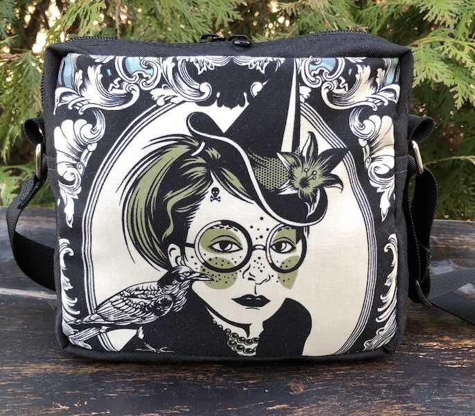 Tula Pink Nightshade Bella Donna witch shoulder hipster bag