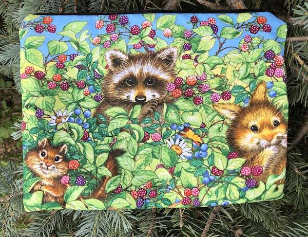 Berry Pickers Supa Scribe extra large pencil case or makeup bag