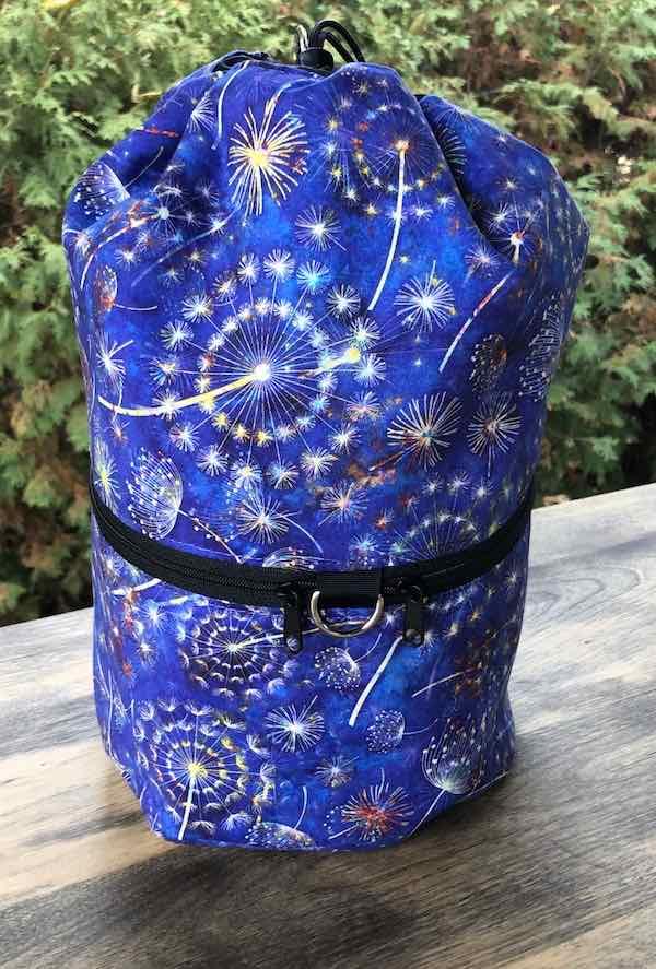 Dandelion large knitting project bag
