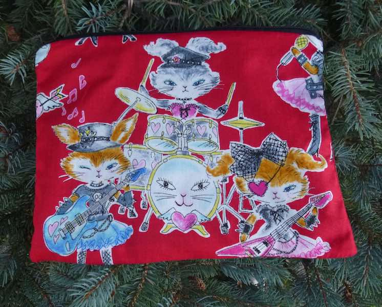 Rabbit rock band jumbo pencil case
