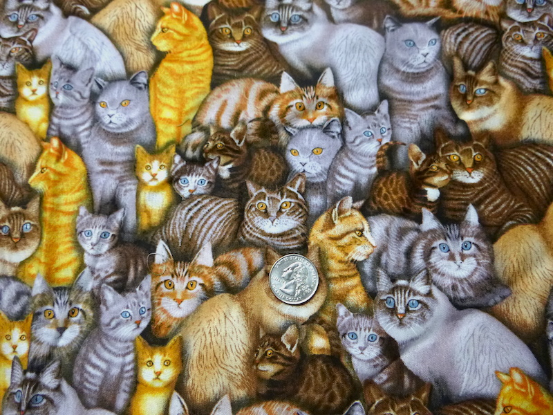 cats fabric for mahjong tote and bag for racks and tiles