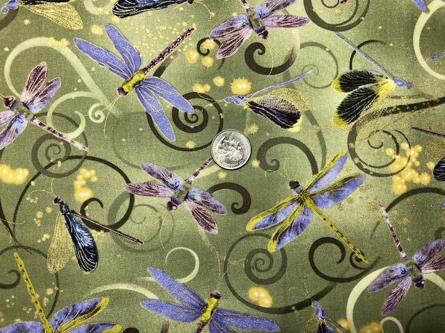 Dragonflies custom made mahjong tote and tile set