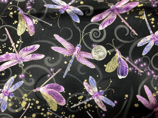 dragonflies fabric for custom mahjong soft sided tote and tile bag