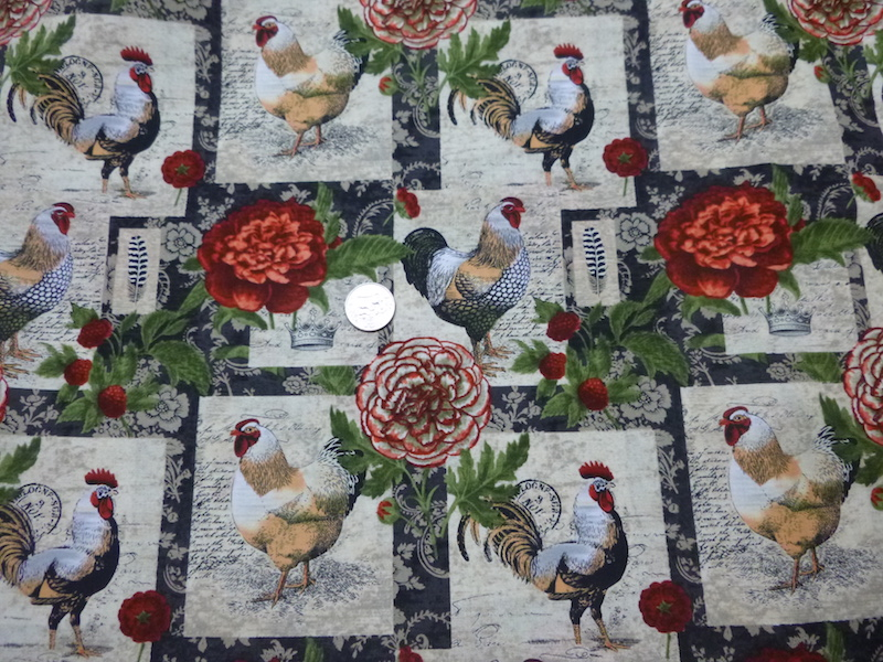 chickens soft sided tote bag and case for mahjong racks and tiles