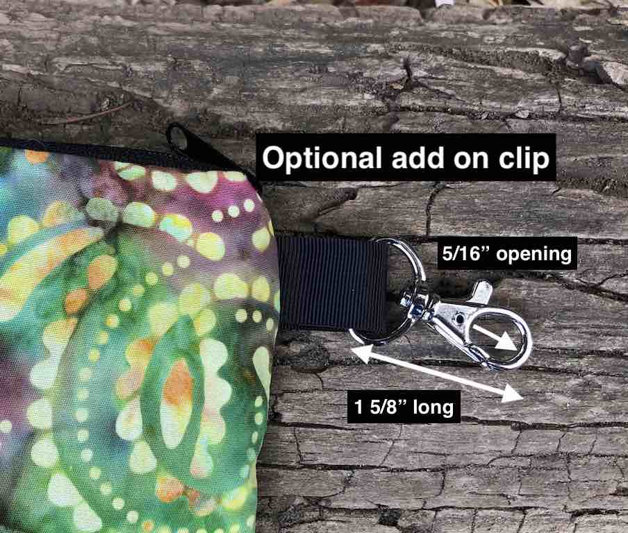 optional clip to add to pouch