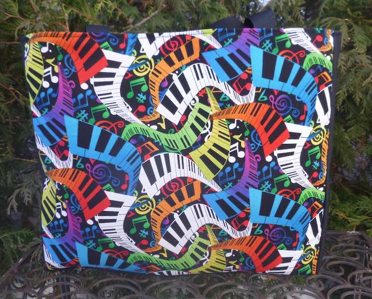 colorful piano keyboards tote bag gift for pianist piano teacher