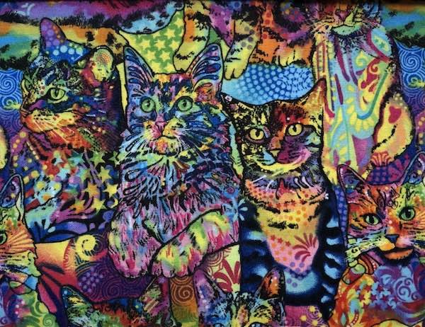 Colorful cats adjustable face mask by Zoe's Bag Boutique