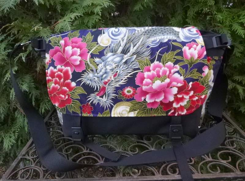 Japanese dragon messenger bag