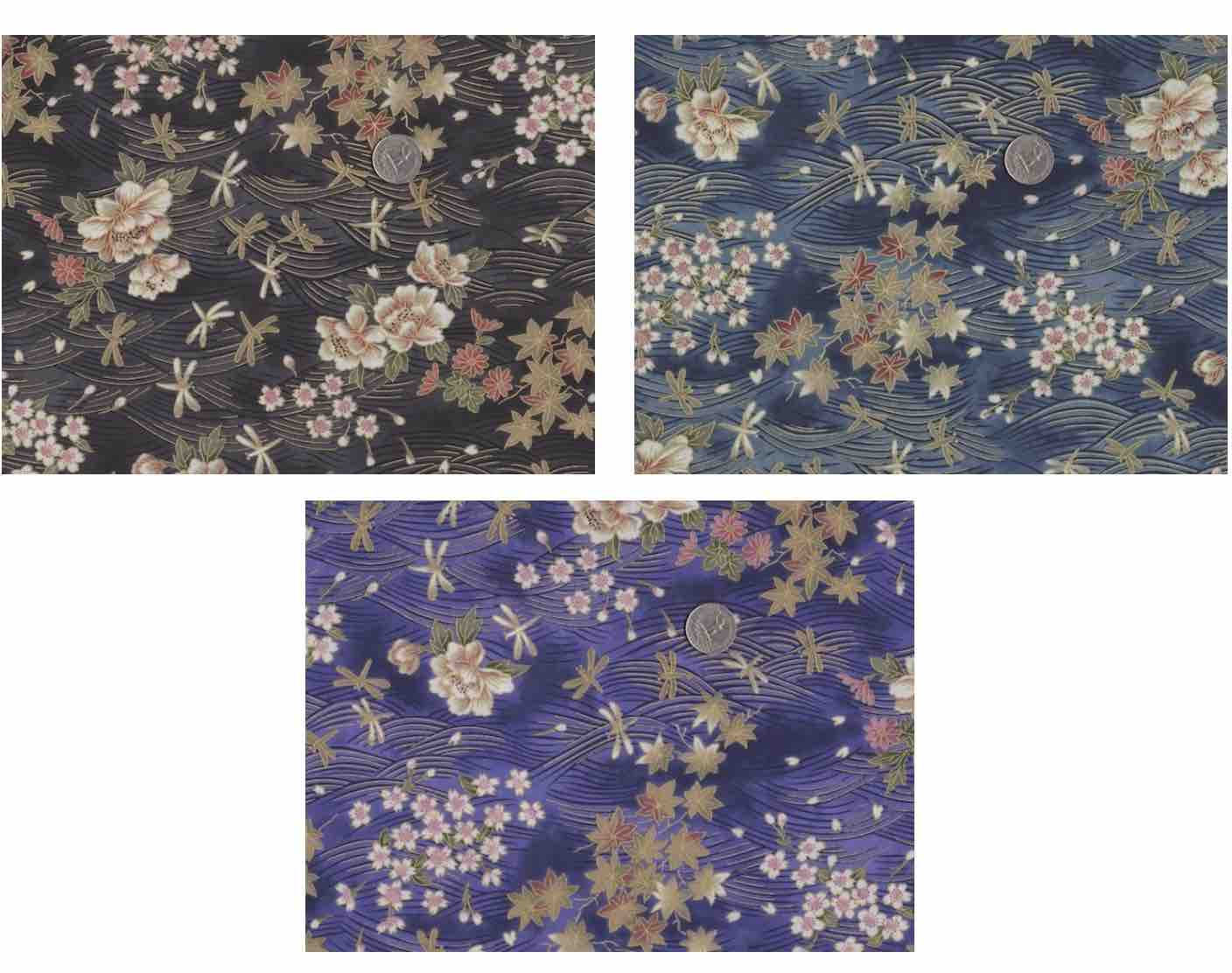 dragonflies and peonies flat bottom bag for mahjong tiles, knitting projects or notions,