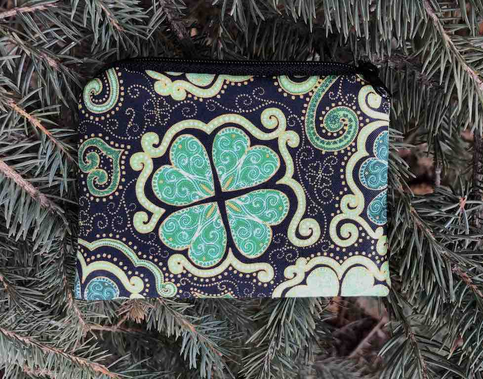 St Patrick's Day Shamrocks coin purse