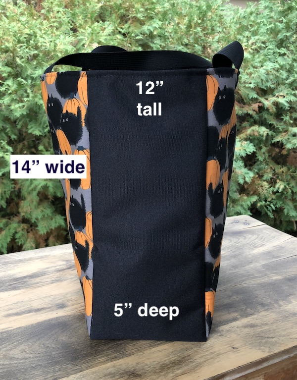 Boutique style tote bag 14 x 12 x 5