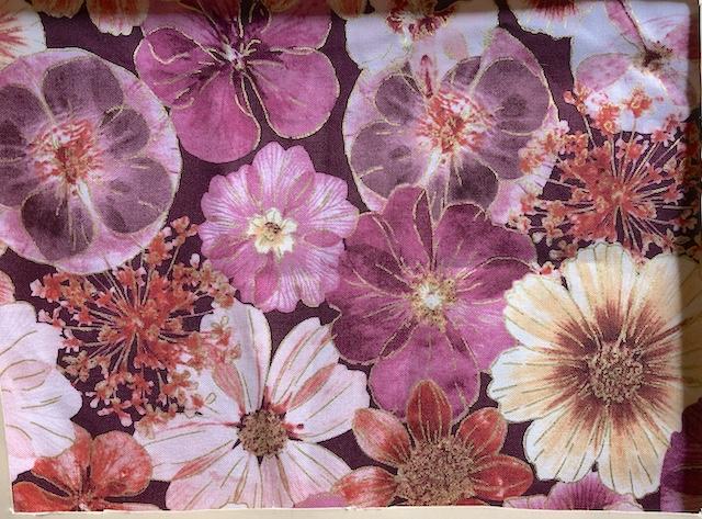 Pink floral adjustable face mask Zoe's Bag Boutique