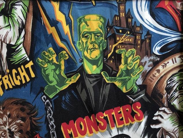 Frankenstein's Monster adjustable face mask Zoe's Bag Boutique