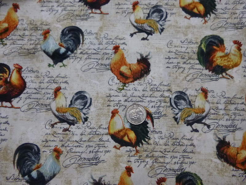 French roosters soft side bags for mahjong racks and tiles