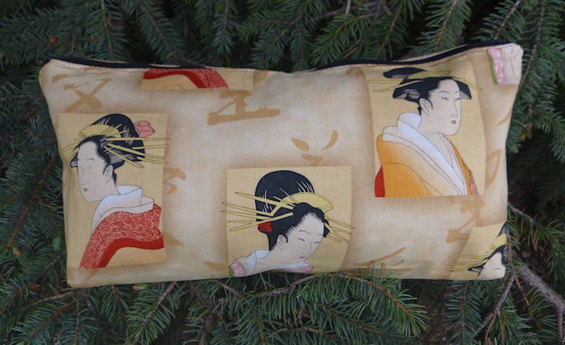 geisha flat bottom bag for mahjong tiles