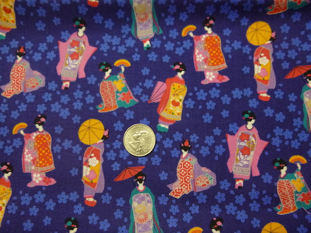Geisha on blue soft sided tote bag for mahjong racks with tile bag