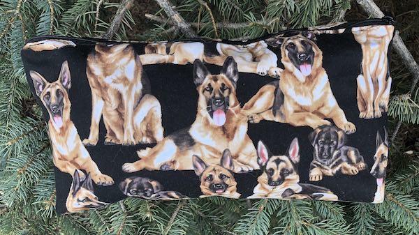 German shepherds flat bottom bag