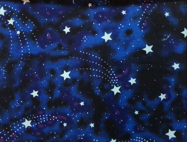Glow in the dark stars adjustable face mask