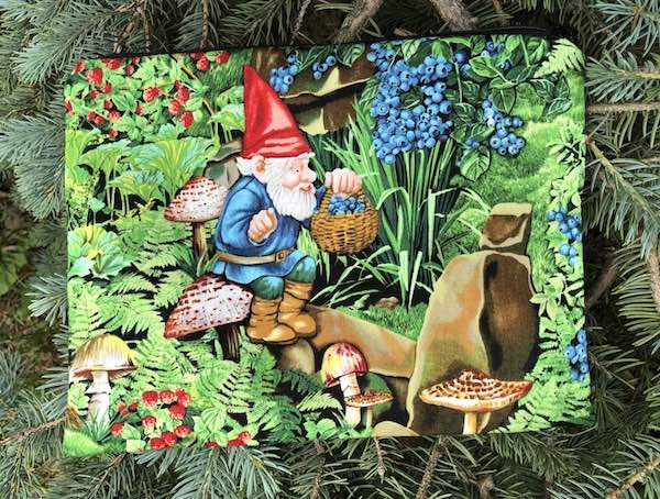 Gnome Berrying Supa Scribe extra large pencil case or makeup bag