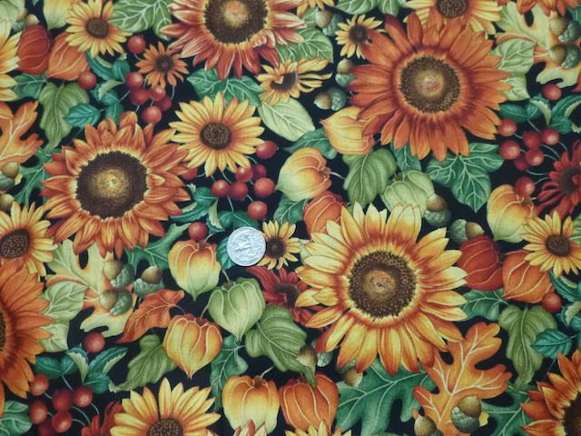 Autumn flowers fabric for custom made soft sided tote bag with zipper and matching bag for mahjong tiles