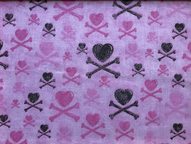 Hearts and Crossbones adjustable face mask Zoe's Bag Boutique
