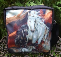 Boutique style horse shoulder bag purse