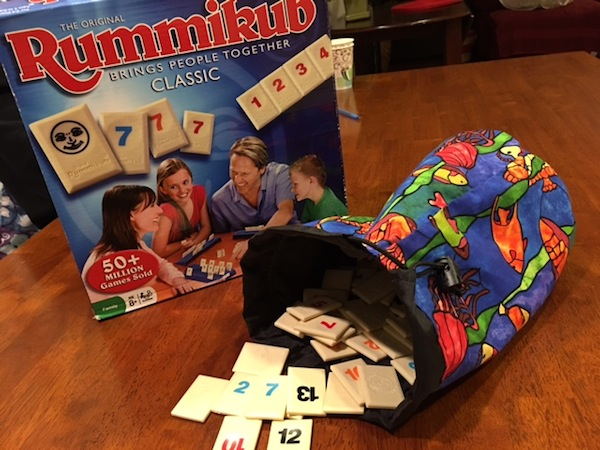 drawstring bag for Rummikub tiles