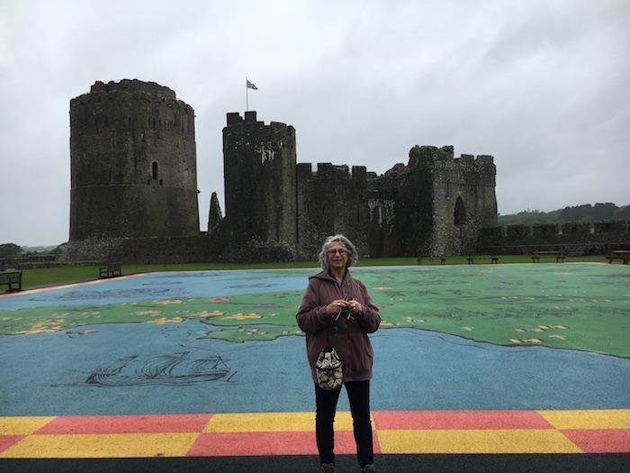 Knitting bag at Pembroke Castle