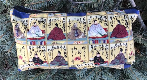 Japanese karuta, cards, flat bottom bag for mahong tiles