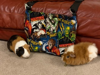 Guinea pigs and a movie monster purse