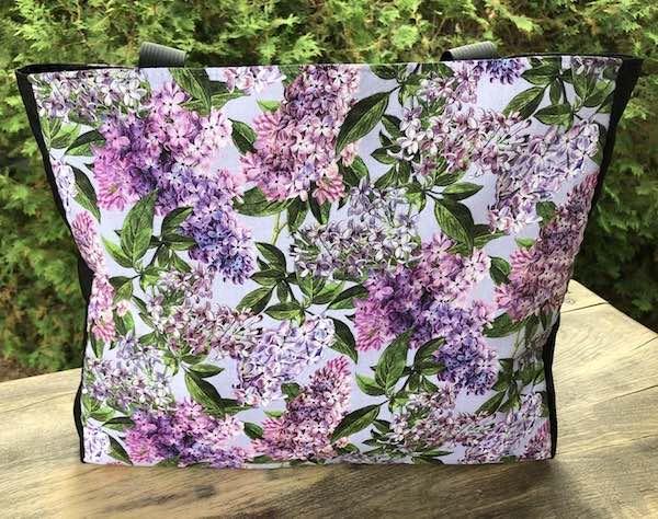 Lilacs Medium Fleur Tote, wide