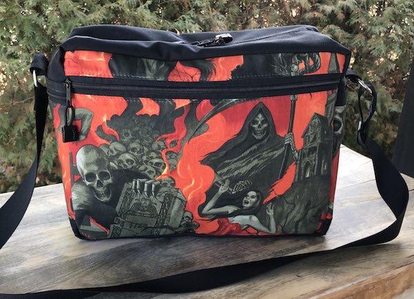 Midnight shadows zippered travel bag
