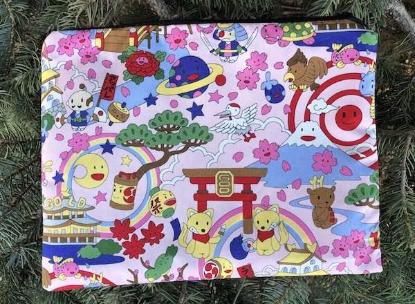 Kawaii large pencil case zippered bag, makeup bag
