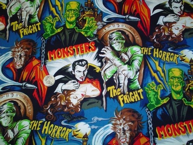 old time movie monsters zippered bag