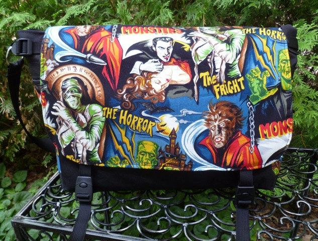 movie monster messenger diaper bag