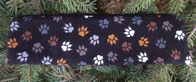 dog paws zippered case for paper straws or reusable straws