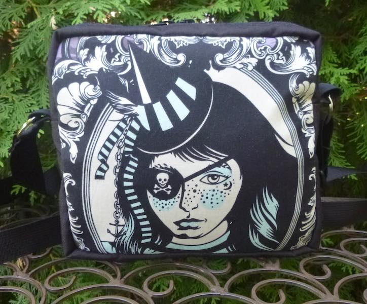 Neptunia Von Black Tula Pink Nightshade shoulder crossbody bag
