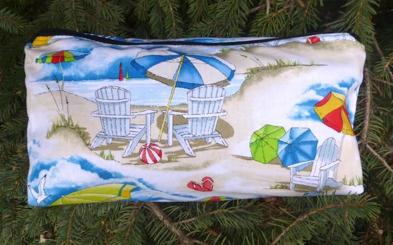 Beach flat bottom bag for mahjong tiles makeup cosmetics toiletries knitting craft supplies