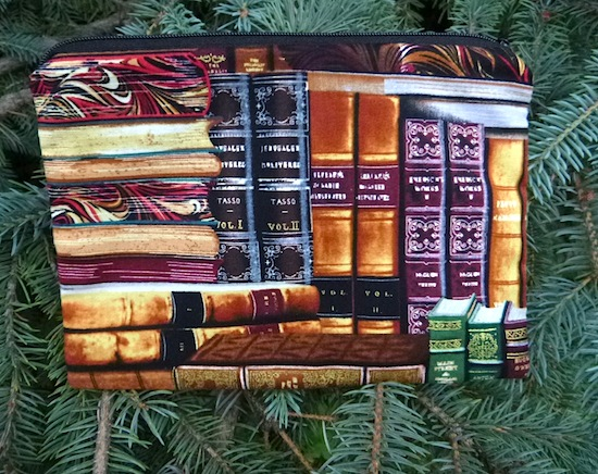 classic books zippered bag