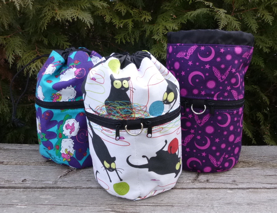kipster knitting project bag for travel or knitting in public