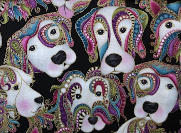 Paisley dogs adjustable face mask